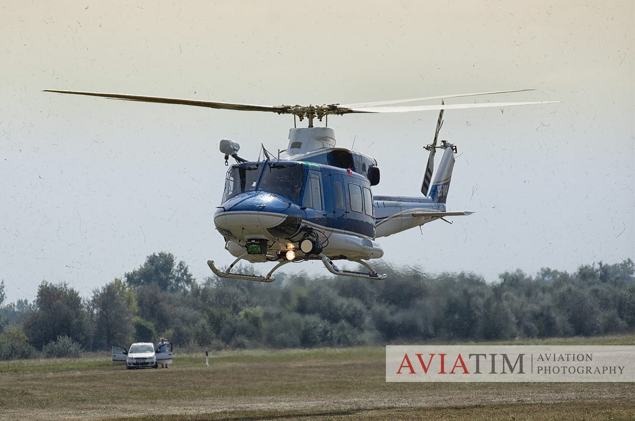 19. Szeged Air Show. Agusta-Bell AB-212 Helicopter. Airshows