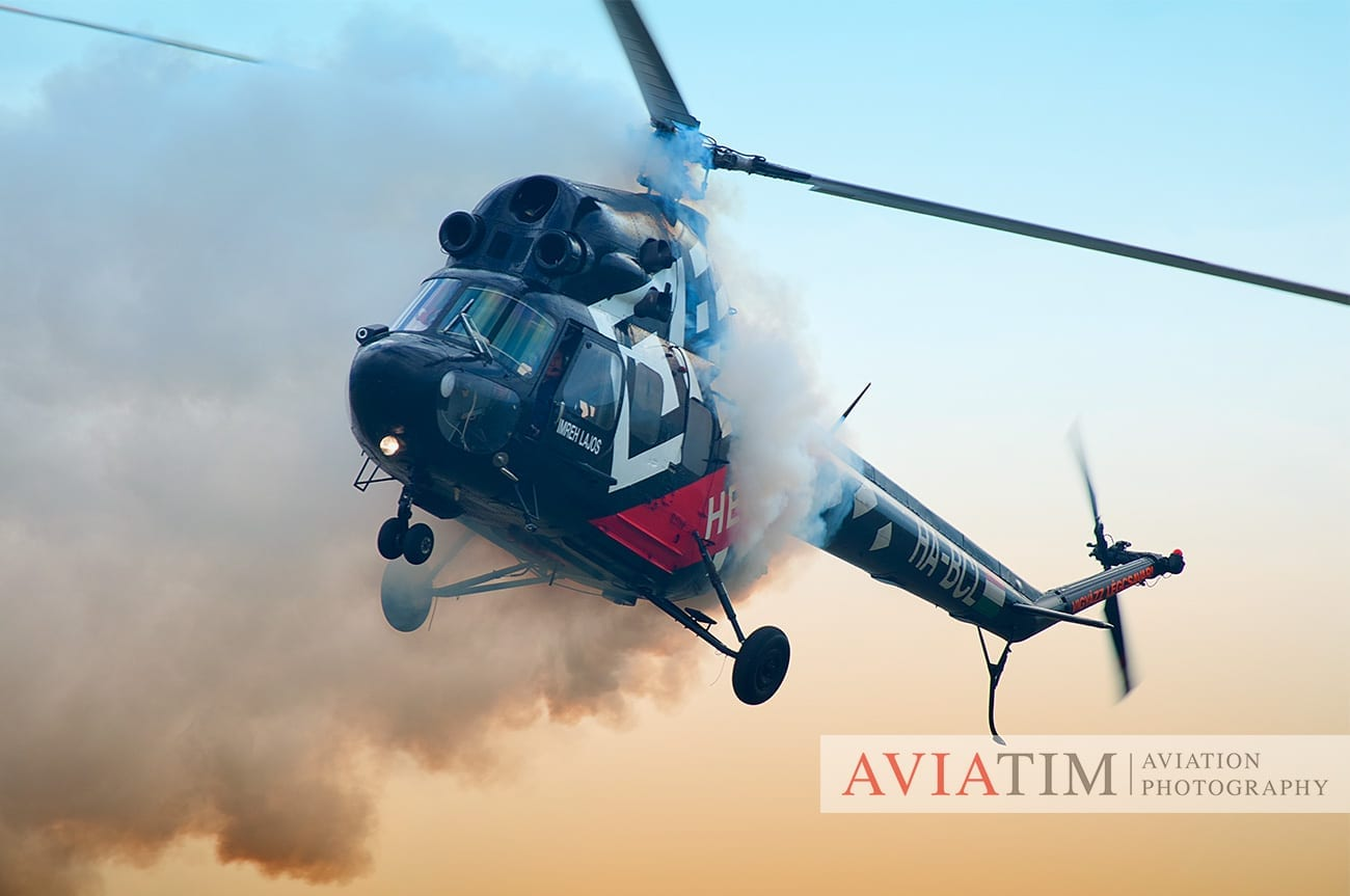 2.Szeged Air Show. Mil Mi-2 Helicopter. Airshows