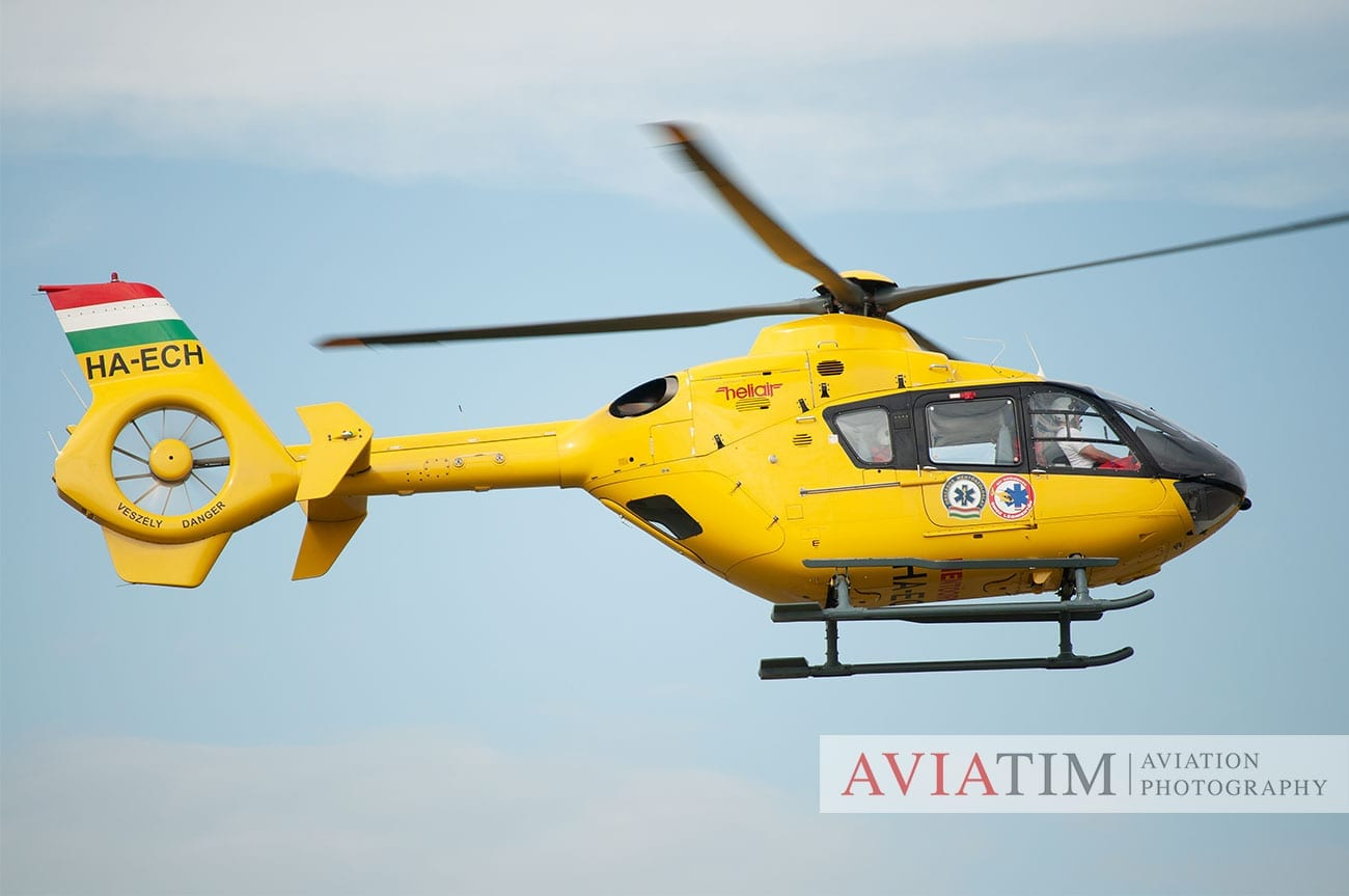 9. Szeged Air Show. EC-135 Helicopter. Airshows